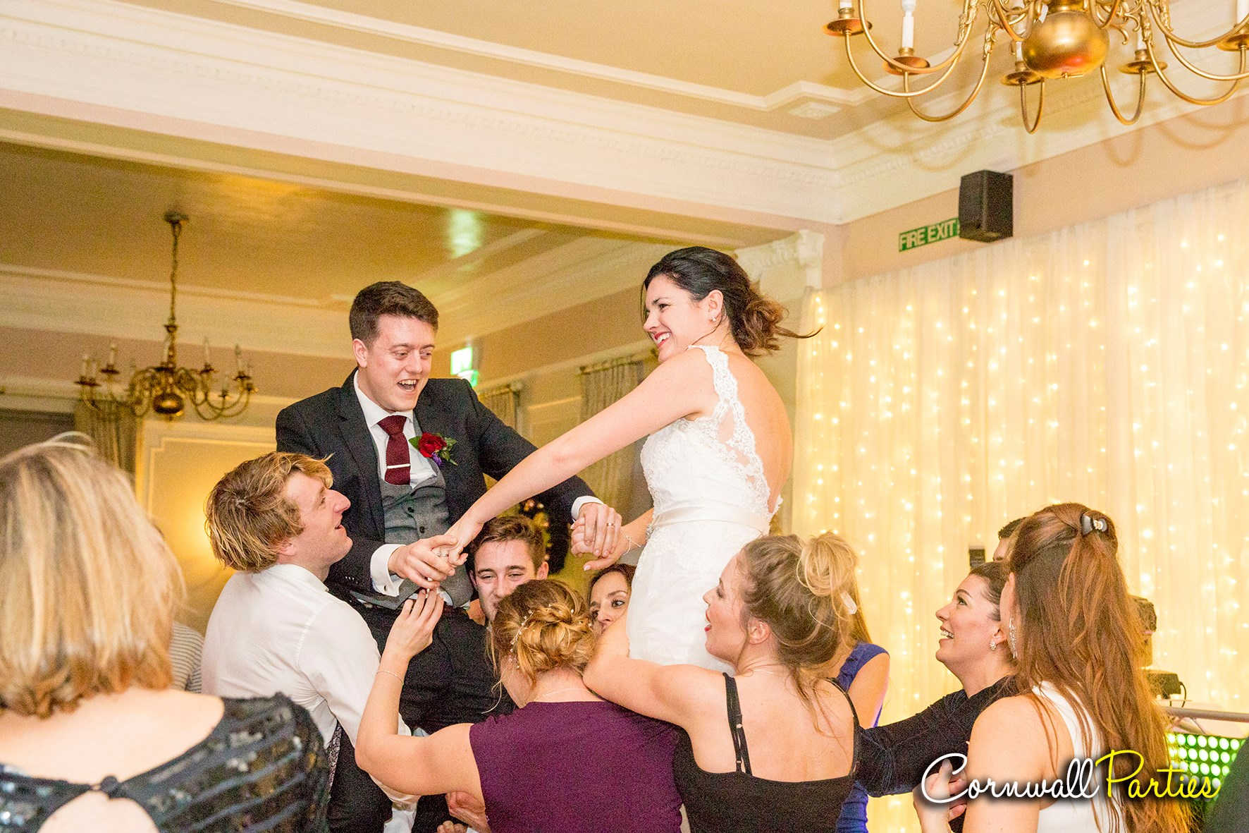 cornwall wedding disco dj photographer 52